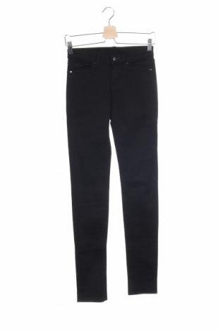 Дамски дънки Uniqlo, Размер XS, Цвят Черен, 79% памук, 10% модал, 7% полиестер, 4% еластан, Цена 11,38лв.