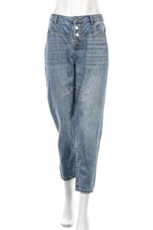 Дамски дънки Yessica, Размер L, Цвят Син, 74% памук, 20% полиестер, 6% вискоза, Цена 21,00лв.