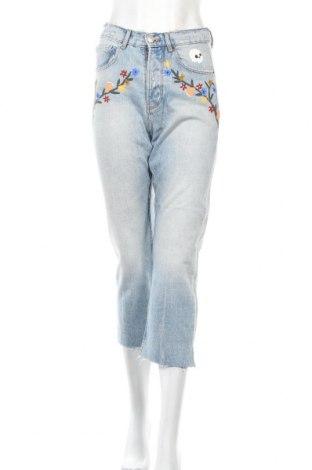 Дамски дънки Zara Trafaluc, Размер XXS, Цвят Син, Памук, Цена 12,74лв.