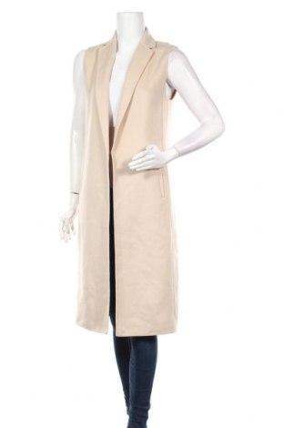 Дамски елек Massimo Dutti, Размер XS, Цвят Бежов, 79% вълна, 21% полиамид, Цена 101,32лв.