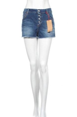Дамски къс панталон Best Mountain, Размер L, Цвят Син, 72% памук, 22% полиестер, 5% вискоза, Цена 18,06лв.