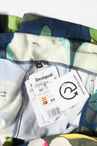 Γυναικείο κοντό παντελόνι Desigual, Μέγεθος S, Χρώμα Πολύχρωμο, 92% πολυεστέρας, 8% ελαστάνη, Τιμή 33,71€