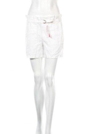 Дамски къс панталон Jacqueline Riu, Размер S, Цвят Бял, Лен, Цена 12,36лв.