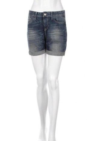 Дамски къс панталон United Colors Of Benetton, Размер S, Цвят Син, Памук, Цена 44,25лв.
