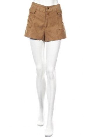 Дамски къс панталон Urban By Venca, Размер L, Цвят Бежов, Полиестер, Цена 14,28лв.