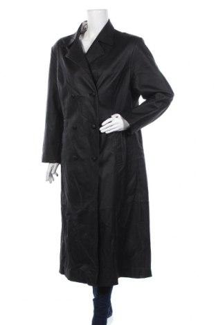 Дамски кожен шлифер, Размер XL, Цвят Черен, Естествена кожа, Цена 120,75лв.