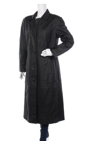 Дамски кожен шлифер, Размер XL, Цвят Черен, Естествена кожа, Цена 117,60лв.