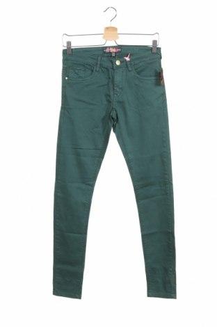 Дамски панталон Alcott, Размер S, Цвят Зелен, 97% памук, 3% еластан, Цена 36,40лв.