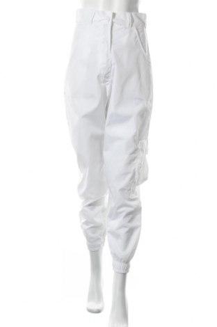 Pantaloni de femei Boohoo, Mărime S, Culoare Alb, Poliester, Preț 50,66 Lei
