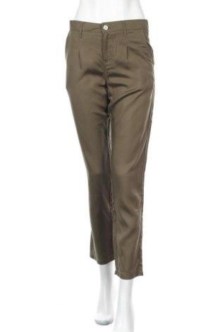 Дамски панталон Springfield, Размер S, Цвят Зелен, Лиосел, Цена 26,00лв.