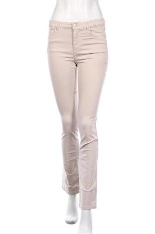 Γυναικείο παντελόνι Un Deux Trois, Μέγεθος S, Χρώμα  Μπέζ, 97% βαμβάκι, 3% ελαστάνη, Τιμή 12,90€