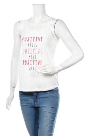 Γυναικείο αμάνικο μπλουζάκι Etam, Μέγεθος S, Χρώμα Λευκό, 50% πολυεστέρας, 38% βαμβάκι, 12% βισκόζη, Τιμή 6,43€