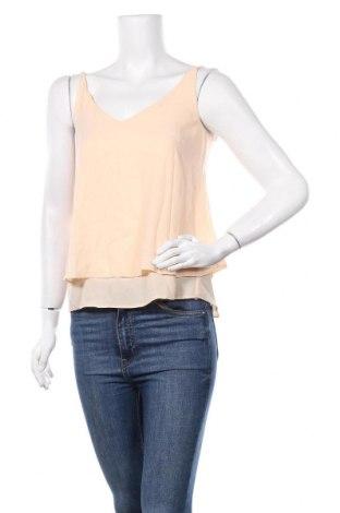 Γυναικείο αμάνικο μπλουζάκι Etam, Μέγεθος XS, Χρώμα Εκρού, Πολυεστέρας, Τιμή 5,76€