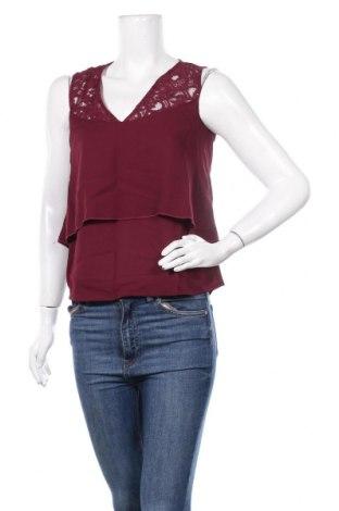 Γυναικείο αμάνικο μπλουζάκι Etam, Μέγεθος XS, Χρώμα Κόκκινο, Πολυεστέρας, βαμβάκι, πολυαμίδη, Τιμή 7,54€