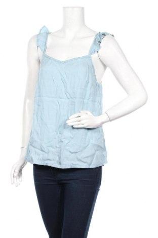Γυναικείο αμάνικο μπλουζάκι Etam, Μέγεθος L, Χρώμα Μπλέ, Lyocell, Τιμή 5,76€