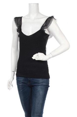 Γυναικείο αμάνικο μπλουζάκι Etam, Μέγεθος XS, Χρώμα Μαύρο, Μοντάλ, Τιμή 7,05€
