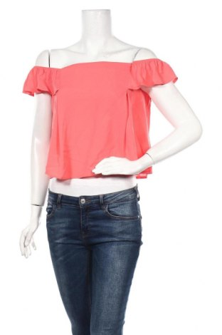 Дамска блуза Jennyfer, Размер L, Цвят Розов, 97% полиестер, 3% еластан, Цена 5,00лв.
