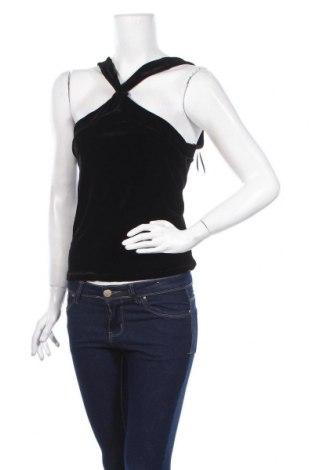 Γυναικείο αμάνικο μπλουζάκι Jennyfer, Μέγεθος M, Χρώμα Μαύρο, 95% πολυεστέρας, 5% ελαστάνη, Τιμή 6,43€