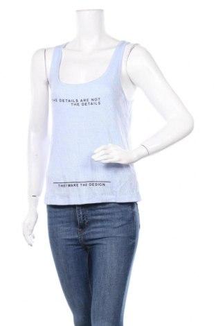 Γυναικείο αμάνικο μπλουζάκι Jennyfer, Μέγεθος S, Χρώμα Μπλέ, 79% βαμβάκι, 21% πολυεστέρας, Τιμή 5,32€