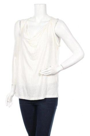 Γυναικείο αμάνικο μπλουζάκι Kookai, Μέγεθος L, Χρώμα Εκρού, 50% λινό, 50% πολυεστέρας, Τιμή 5,53€