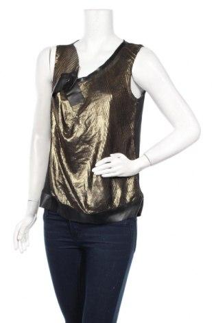 Γυναικείο αμάνικο μπλουζάκι La Mode Est A Vous, Μέγεθος M, Χρώμα Χρυσαφί, Πολυεστέρας, δερματίνη, Τιμή 6,43€