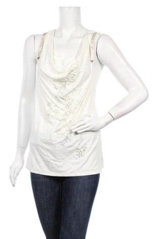 Γυναικείο αμάνικο μπλουζάκι La Mode Est A Vous, Μέγεθος L, Χρώμα Εκρού, Βισκόζη, πολυεστέρας, ελαστάνη, Τιμή 7,09€