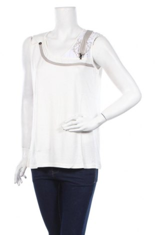 Γυναικείο αμάνικο μπλουζάκι La Redoute, Μέγεθος XL, Χρώμα Εκρού, 96% βισκόζη, 4% ελαστάνη, Τιμή 7,54€