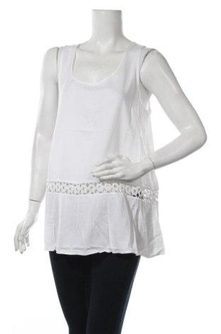 Γυναικείο αμάνικο μπλουζάκι Lauren Vidal, Μέγεθος L, Χρώμα Λευκό, 100% βισκόζη, Τιμή 7,83€