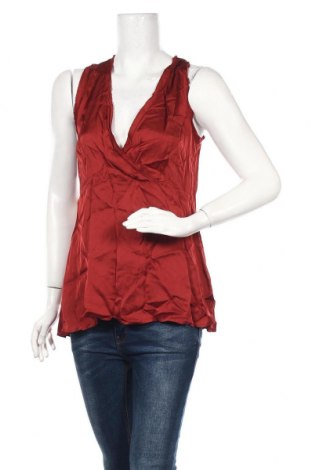 Γυναικείο αμάνικο μπλουζάκι Lauren Vidal, Μέγεθος L, Χρώμα Κόκκινο, Βισκόζη, Τιμή 13,44€