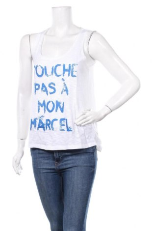 Γυναικείο αμάνικο μπλουζάκι Little Marcel, Μέγεθος L, Χρώμα Λευκό, 100% βαμβάκι, Τιμή 6,43€