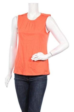 Γυναικείο αμάνικο μπλουζάκι Little Marcel, Μέγεθος M, Χρώμα Πορτοκαλί, 50% βαμβάκι, 50% βισκόζη, Τιμή 6,43€