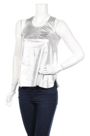 Γυναικείο αμάνικο μπλουζάκι Little Marcel, Μέγεθος S, Χρώμα Ασημί, Βαμβάκι, Τιμή 6,43€