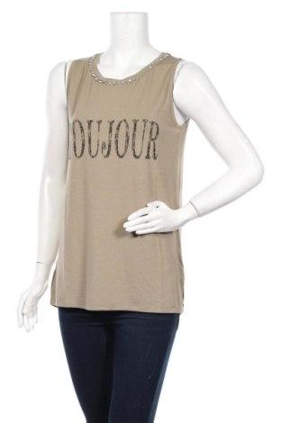 Γυναικείο αμάνικο μπλουζάκι Motivi, Μέγεθος M, Χρώμα Πράσινο, 96% βισκόζη, 4% ελαστάνη, Τιμή 6,46€