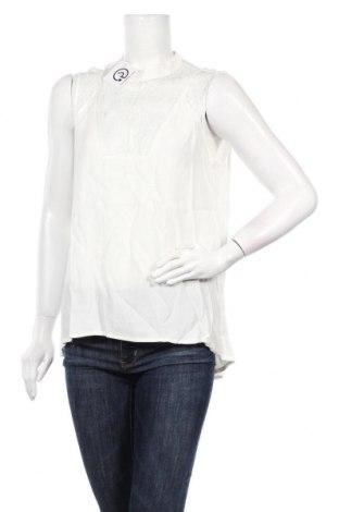 Γυναικείο αμάνικο μπλουζάκι Naf Naf, Μέγεθος L, Χρώμα Λευκό, Βισκόζη, Τιμή 7,09€