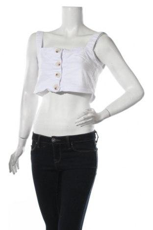 Γυναικείο αμάνικο μπλουζάκι Nasty Gal, Μέγεθος S, Χρώμα Λευκό, 65% βαμβάκι, 33% πολυεστέρας, 2% ελαστάνη, Τιμή 5,32€