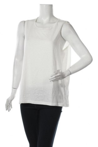 Γυναικείο αμάνικο μπλουζάκι Noisy May, Μέγεθος XL, Χρώμα Λευκό, 55% πολυεστέρας, 35% βαμβάκι, 10% βισκόζη, Τιμή 7,48€