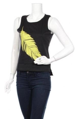 Γυναικείο αμάνικο μπλουζάκι Pretty Summer, Μέγεθος S, Χρώμα Μαύρο, 65% πολυεστέρας, 35% βαμβάκι, Τιμή 6,43€