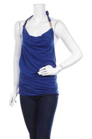 Γυναικείο αμάνικο μπλουζάκι Rinascimento, Μέγεθος M, Χρώμα Μπλέ, 94% πολυεστέρας, 6% ελαστάνη, Τιμή 8,08€
