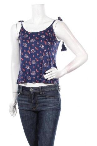 Γυναικείο αμάνικο μπλουζάκι Springfield, Μέγεθος S, Χρώμα Μπλέ, Βισκόζη, Τιμή 4,59€