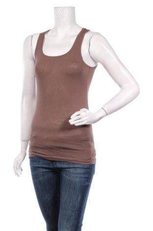 Γυναικείο αμάνικο μπλουζάκι Stefanel, Μέγεθος XS, Χρώμα Καφέ, Βαμβάκι, Τιμή 10,04€