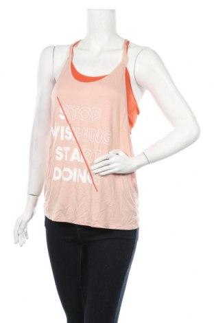 Γυναικείο αμάνικο μπλουζάκι Undiz, Μέγεθος L, Χρώμα Πορτοκαλί, 92% πολυαμίδη, 8% ελαστάνη, Τιμή 6,31€