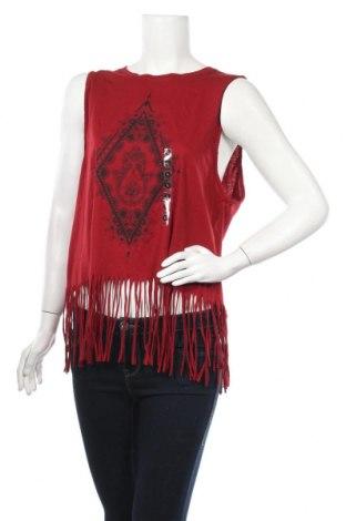 Γυναικείο αμάνικο μπλουζάκι Undiz, Μέγεθος L, Χρώμα Κόκκινο, 60% βαμβάκι, 40% πολυεστέρας, Τιμή 5,11€