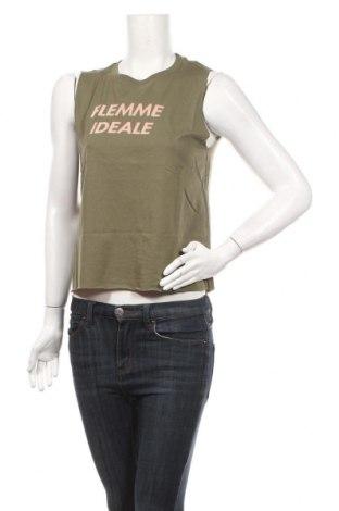 Γυναικείο αμάνικο μπλουζάκι Undiz, Μέγεθος S, Χρώμα Πράσινο, 60% βαμβάκι, 40% πολυεστέρας, Τιμή 4,25€
