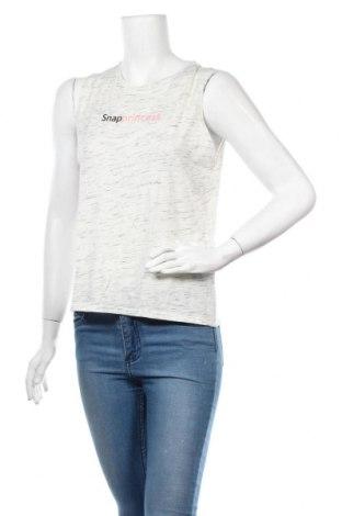 Γυναικείο αμάνικο μπλουζάκι Undiz, Μέγεθος S, Χρώμα Λευκό, 98% βαμβάκι, 2% βισκόζη, Τιμή 4,19€