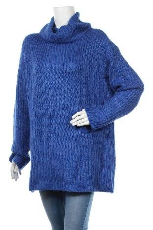 Дамски пуловер Amisu, Размер M, Цвят Син, 92% полиакрил, 8% полиестер, Цена 31,92лв.