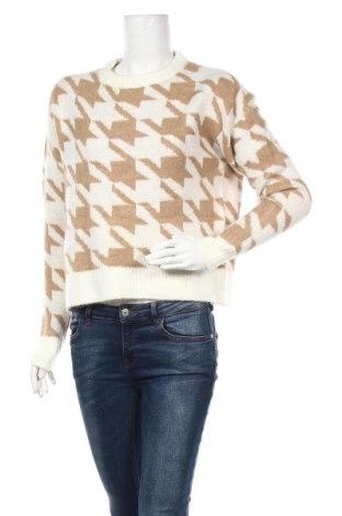 Дамски пуловер Amisu, Размер XS, Цвят Бял, 65% полиакрил, 28% полиамид, 5% вълна, 2% еластан, Цена 27,93лв.