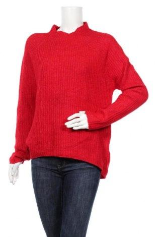 Дамски пуловер Amisu, Размер XL, Цвят Червен, 70% акрил, 27% полиестер, 3% еластан, Цена 25,94лв.