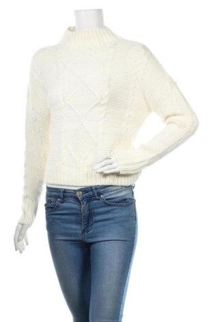 Дамски пуловер Amisu, Размер S, Цвят Бял, Полиакрил, Цена 25,94лв.