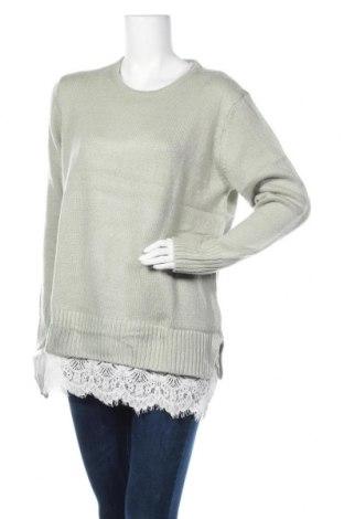 Дамски пуловер Aniston, Размер L, Цвят Зелен, Полиакрил, Цена 37,80лв.