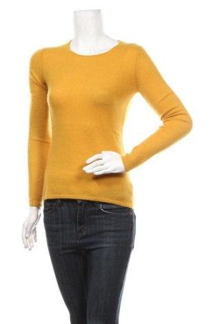 Дамски пуловер Authentic Cashmere, Размер S, Цвят Жълт, Кашмир, Цена 144,00лв.